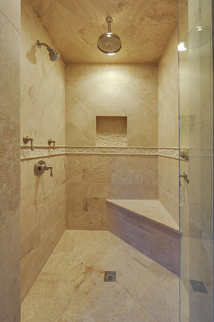 1005-Queens-Glenview - MasterBathroom-Shower-Entry - Globex Developments Custom Homes