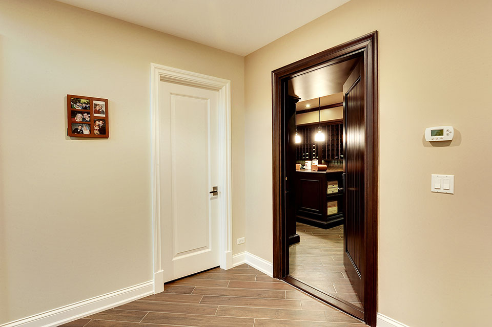 1005-Queens-Glenview - Winecellar-Entrance - Globex Developments Custom Homes