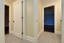 1005-Queens-Glenview - Second  Bathroom  Doors - Globex Developments Custom Homes