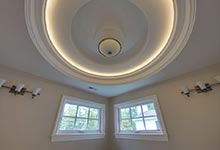1005-Queens-Glenview - Master  Bathroom  LightRing - Globex Developments Custom Homes