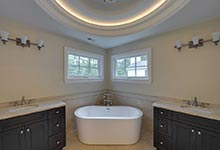 1005-Queens-Glenview - Master  Bathroom  Tub  View - Globex Developments Custom Homes
