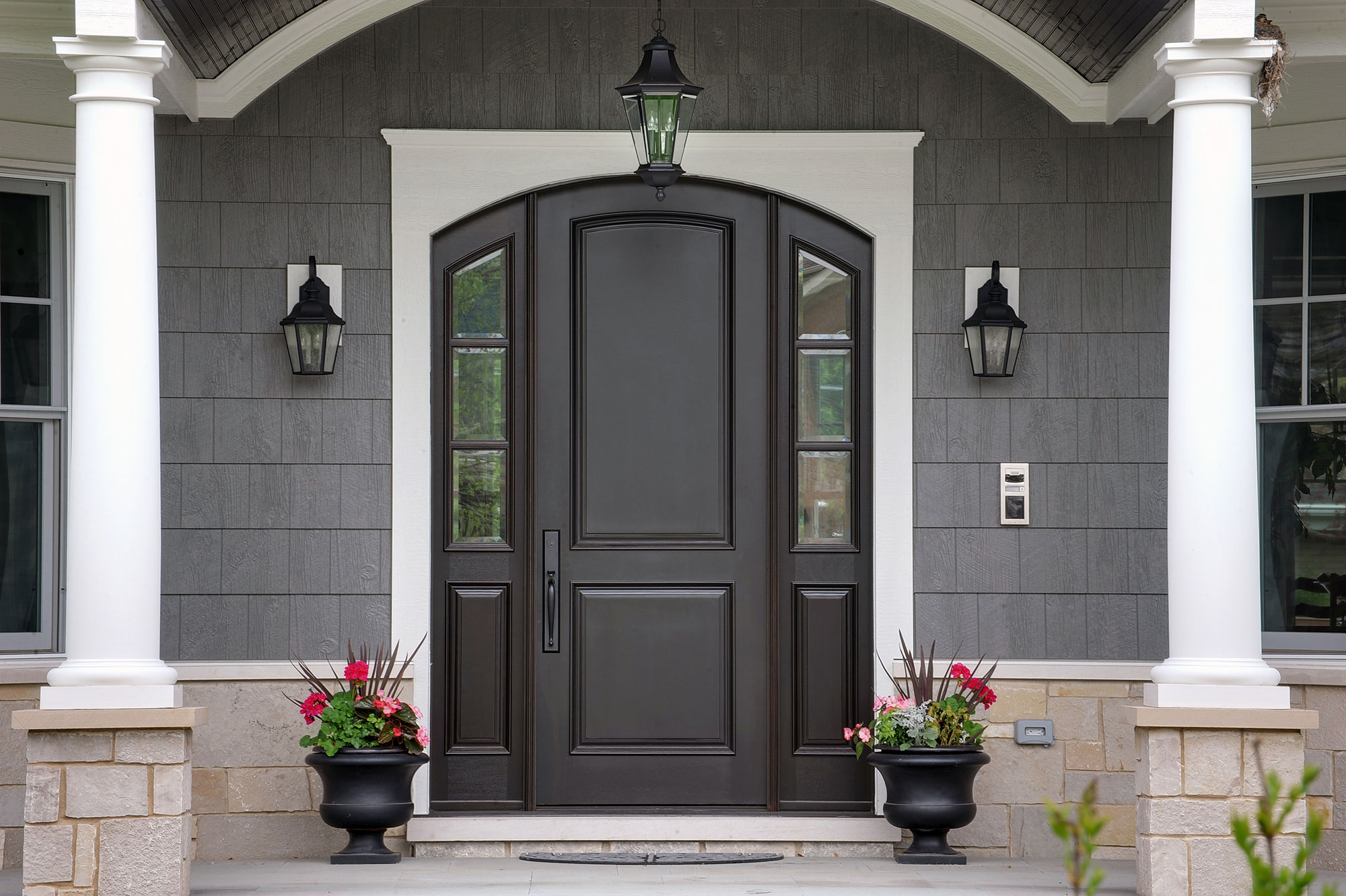 Entry Door Exterior Detail New Custom Homes Globex Developments