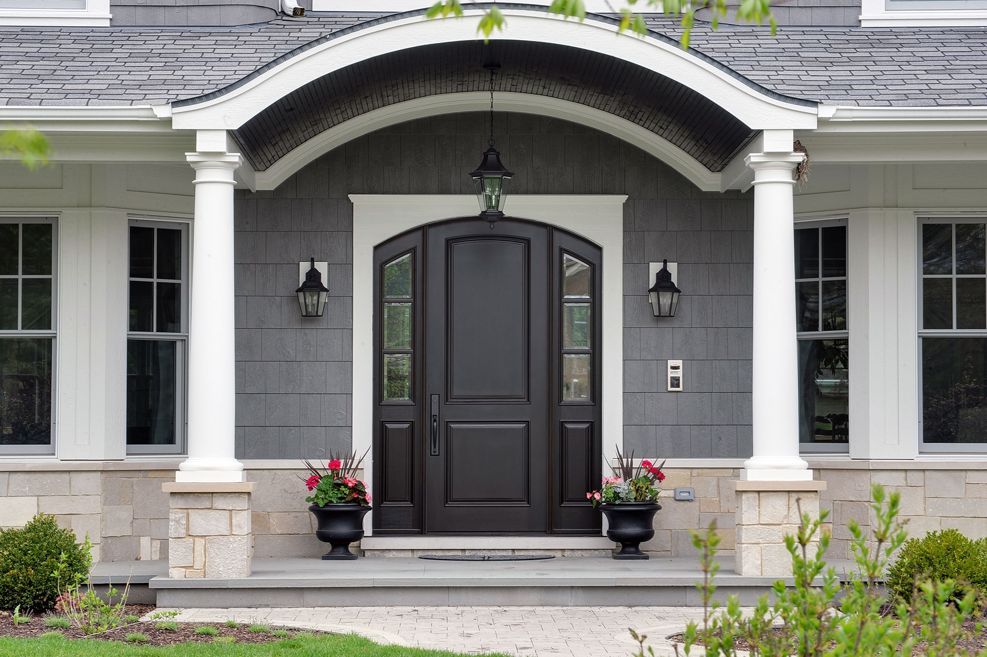 custom front doorsNew Custom Homes  Globex Developments Inc  Custom Home