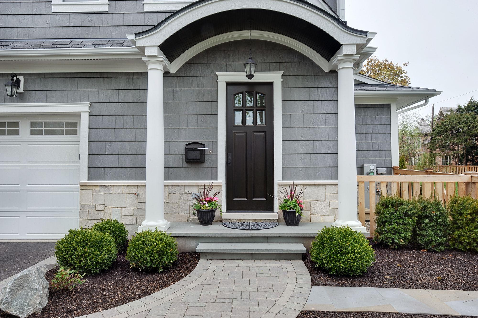 House side entry door new custom homes globex for Custom home builders near me