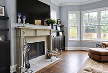 1044-Woodlawn-Glenview - Family Room Fireplace - Globex Developments Custom Homes