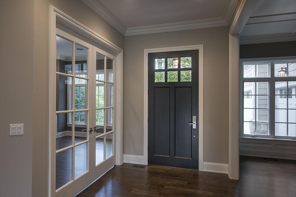 1205-Pleasant-Glenview - GD-112PW Mahogany with Espresso Finish Front Door - Globex Developments Custom Homes