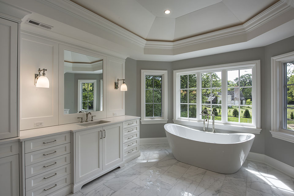 1205-Pleasant-Glenview - Master-Bathroom-Tub - Globex Developments Custom Homes