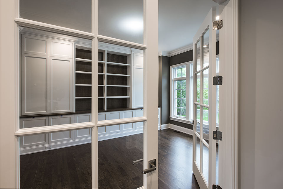 1205-Pleasant-Glenview - Office-Double-Doors - Globex Developments Custom Homes