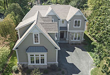 1205-Pleasant-Glenview - Front Elevation Aerial View - Globex Developments Custom Homes