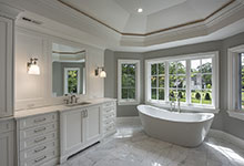 1205-Pleasant-Glenview - Master Bathroom Tub - Globex Developments Custom Homes