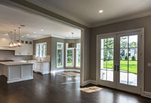 1205-Pleasant-Glenview - Patio Double Doors, Kitchen, Dining Room - Globex Developments Custom Homes