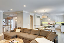 1206-Raleigh-Glenview - Family Room Kitchen View - Globex Developments Custom Homes