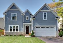 1206-Raleigh-Glenview - House-Front - Garage Door Gallery