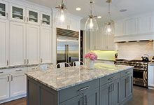 1206-Raleigh-Glenview - Kitchen. Island View - Globex Developments Custom Homes