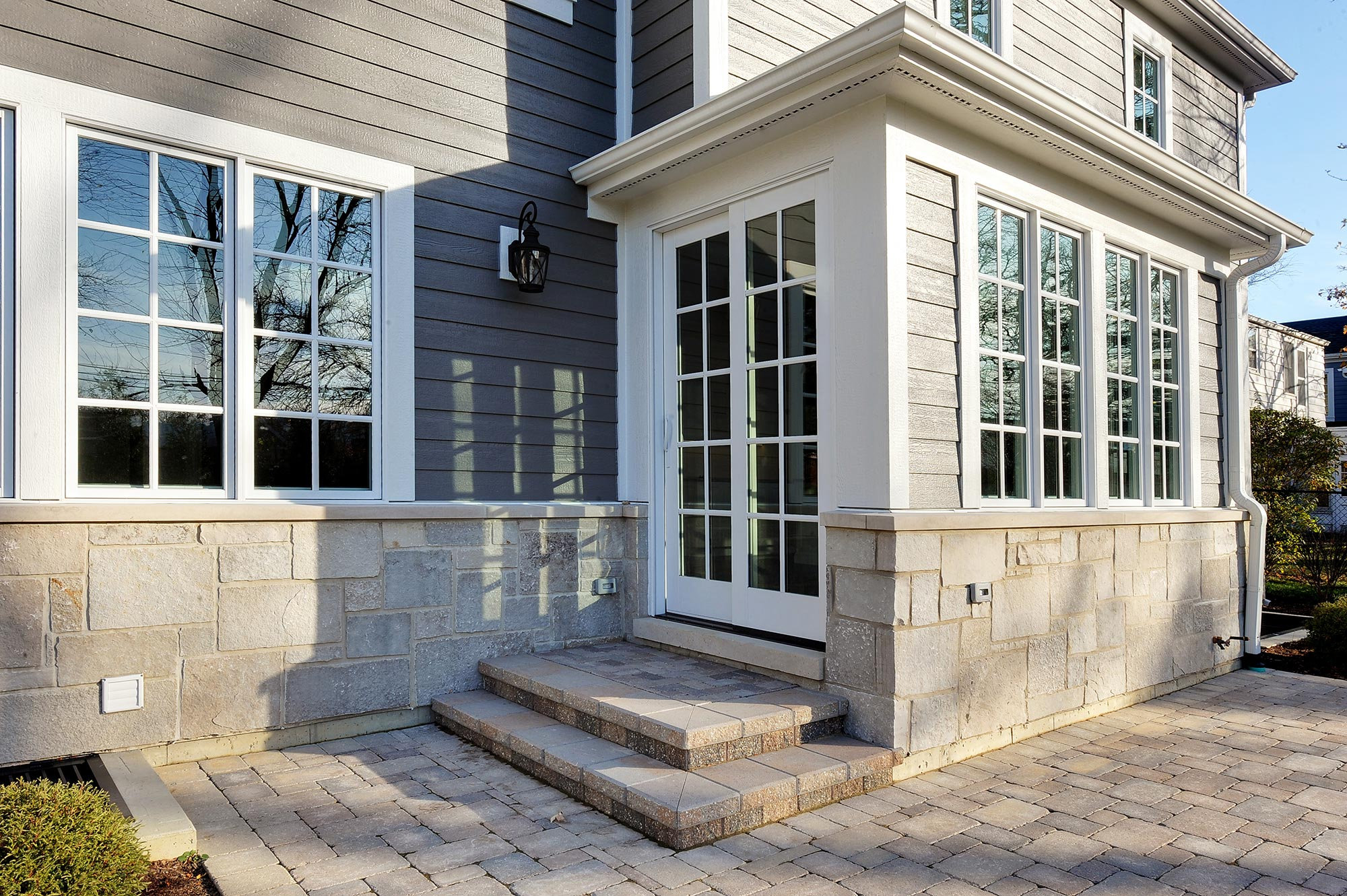 House Patio Detail New Custom Homes