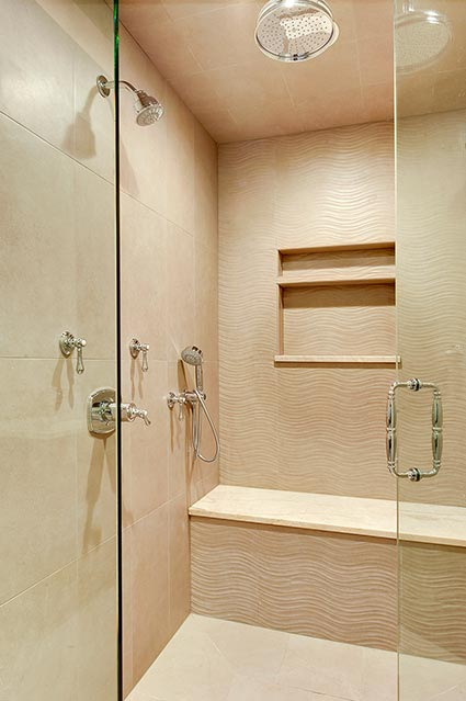1216-Raleigh-Glenview - Master-Bathroom-Shower-Detail - Globex Developments Custom Homes