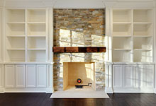 1216-Raleigh-Glenview - Family-Room-Fireplace - Glenview Haus Gallery