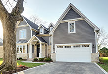 1216-Raleigh-Glenview - House Front Garage - Globex Developments Custom Homes