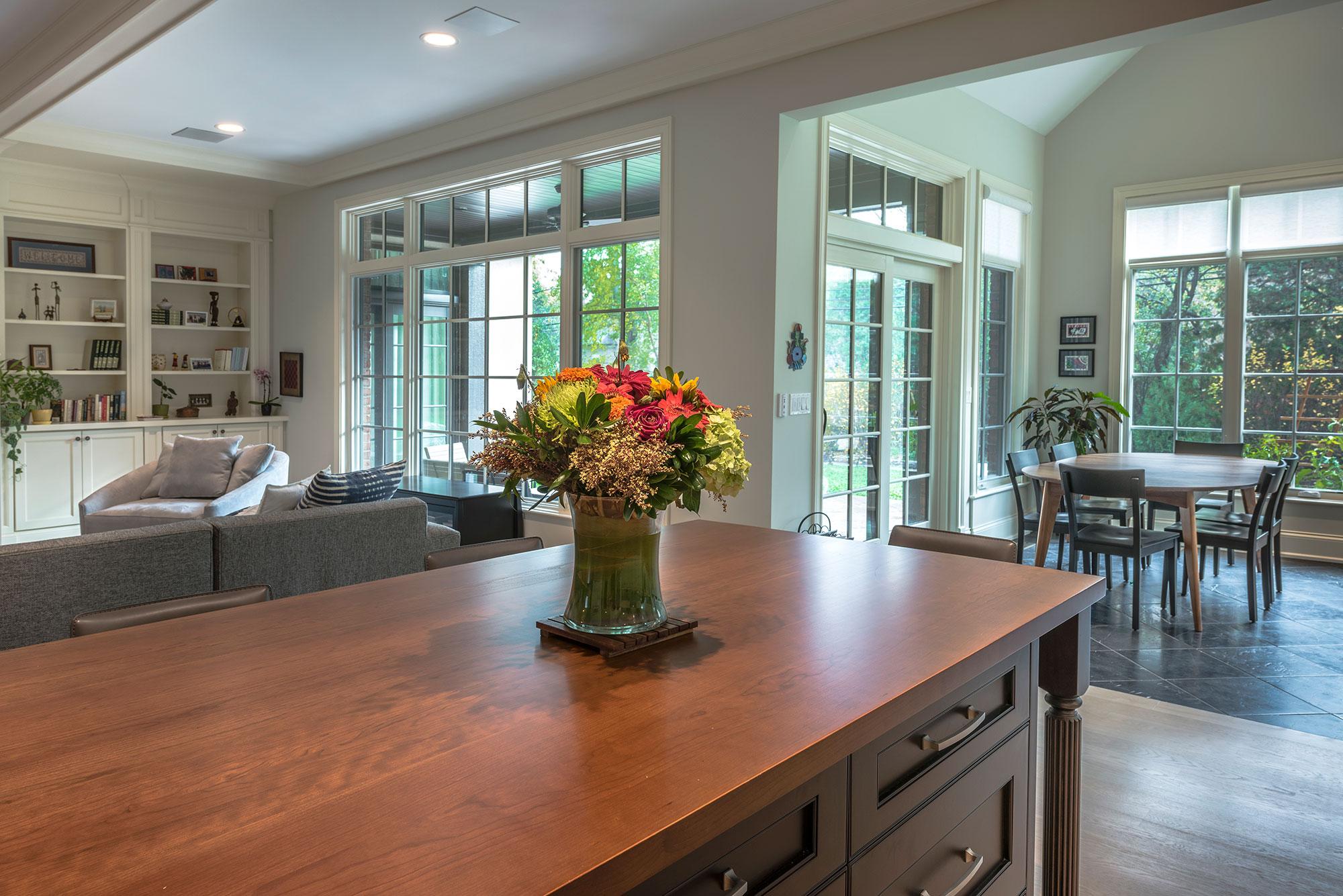 1233 Heather Custom Home Photo Gallery Breakfast Table Windows View