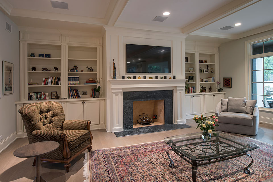 1233-Heather-Lane-Glenview - Fireplace-Family-Room - Globex Developments Custom Homes