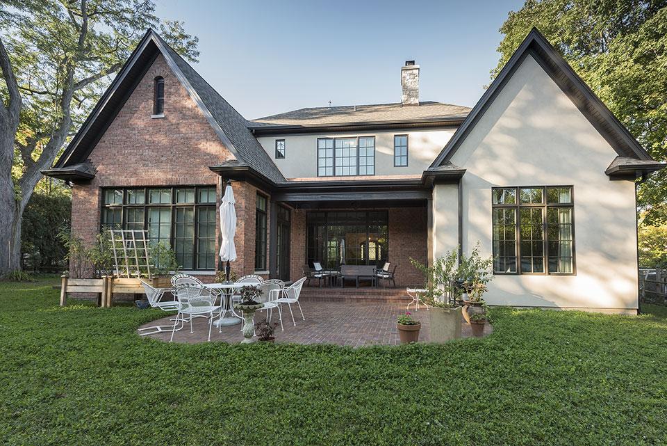 1233-Heather-Lane-Glenview - House Back Elevation - Globex Developments Custom Homes