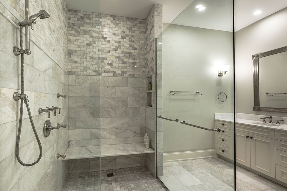 1233-Heather-Lane-Glenview - Master-Bathroom,-Shower - Globex Developments Custom Homes