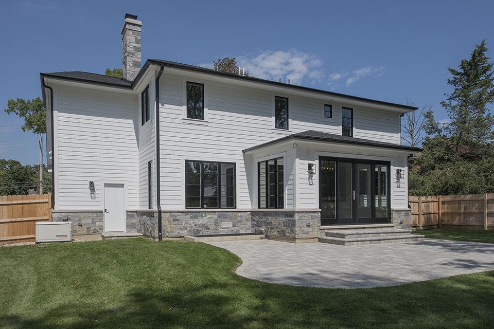 1429-Pleasant-Glenview - Back Elevations, Backyard - Globex Developments Custom Homes