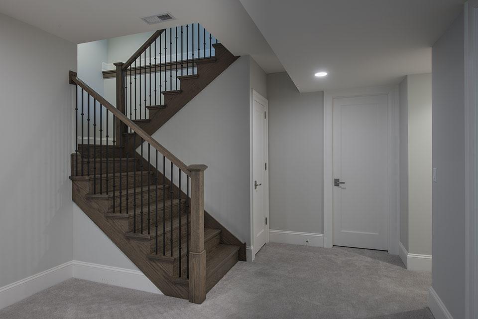 1429-Pleasant-Glenview - Basement, Stairs - Globex Developments Custom Homes