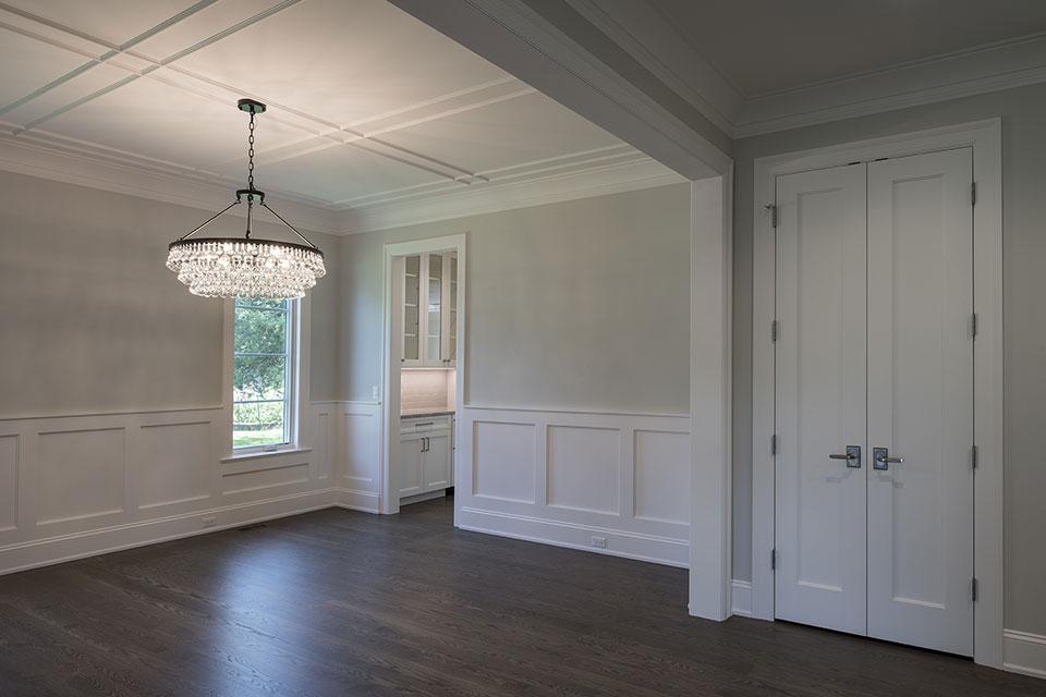 1429-Pleasant-Glenview - Dining Room, Interior Double Doors, Paint Grade - Globex Developments Custom Homes