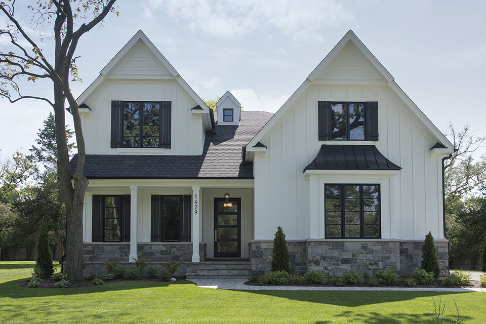 1429-Pleasant-Glenview - Front Elevations - Globex Developments Custom Homes