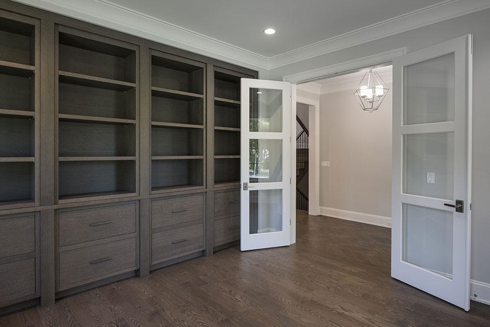 1429-Pleasant-Glenview - Library, Double Doors Openjpg - Globex Developments Custom Homes