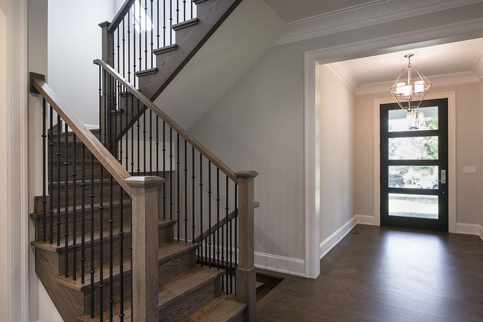 1429-Pleasant-Glenview - Modern Entry Door, Stairs - Globex Developments Custom Homes