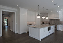 1429-Pleasant-Glenview - Kitchen, Front Doors View - Globex Developments Custom Homes
