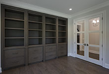 1429-Pleasant-Glenview - Library Custom Cabinets, Interior Double Door - Globex Developments Custom Homes