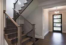 1429-Pleasant-Glenview - Modern Entry Door, Stairs - Globex Developments Custom Homes
