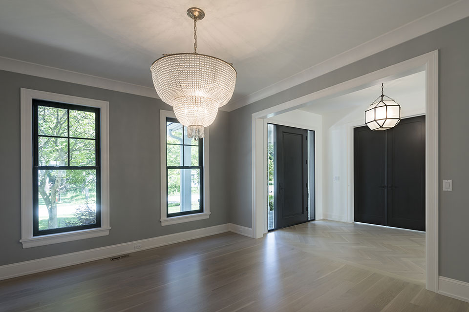 1444-Hawthorne-Glenview - Entrace-View-from-Dining-Room - Globex Developments Custom Homes