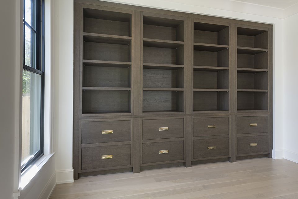 1444-Hawthorne-Glenview - Library-Cabinets - Globex Developments Custom Homes