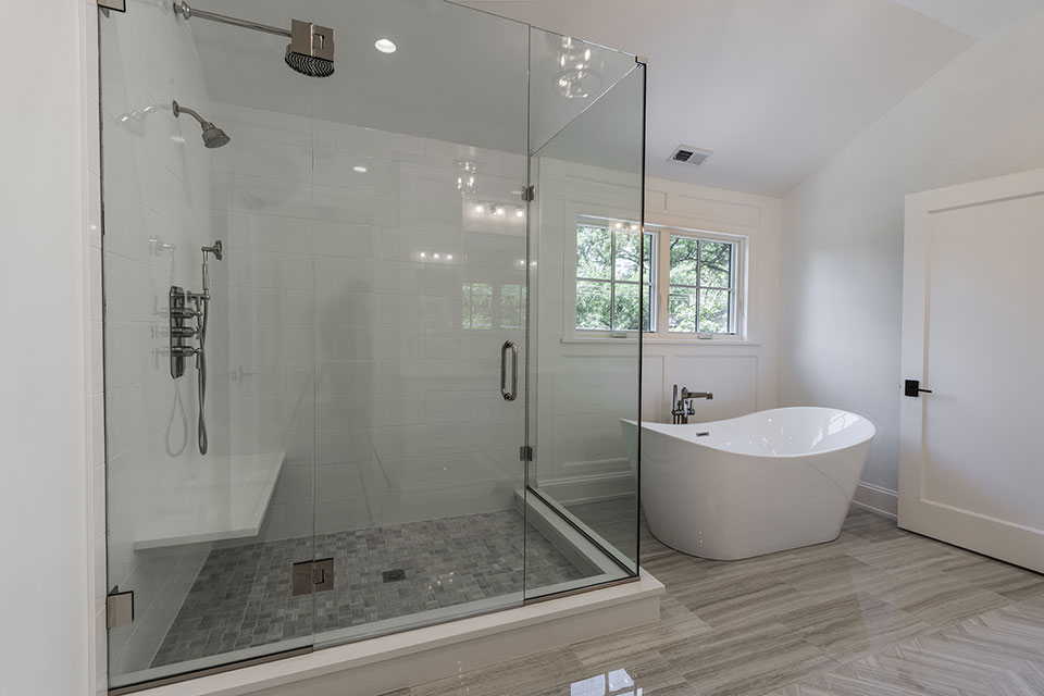 1444-Hawthorne-Glenview - Master-Bathroom-Shower - Globex Developments Custom Homes