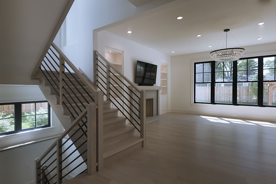 1444-Hawthorne-Glenview - Stairs,-First-Floor - Globex Developments Custom Homes