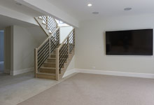 1444-Hawthorne-Glenview - Basement, Staircase, TV - Globex Developments Custom Homes