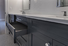 1444-Hawthorne-Glenview - Bathroom Vanity, Open Drawer - Globex Developments Custom Homes