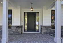 1444-Hawthorne-Glenview - Entrance, Single Doors with 2 Sidelites, Clear Beveld Glass - Globex Developments Custom Homes