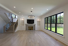1444-Hawthorne-Glenview - Family Room, Fireplace, Staircase - Globex Developments Custom Homes