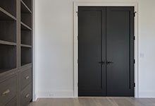 1444-Hawthorne-Glenview - Interior Double Doors Library Painted Black - Globex Developments Custom Homes