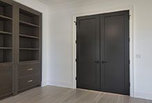 1444-Hawthorne-Glenview - Library Interior Double Doors, Painted Black - Globex Developments Custom Homes