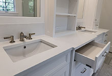 1444-Hawthorne-Glenview - Master Bathroom Cabinets, Open Drawer - Globex Developments Custom Homes