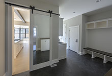 1444-Hawthorne-Glenview - Mudroom, Barn Door - Globex Developments Custom Homes