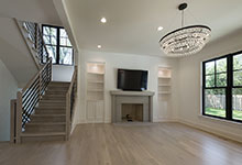 1444-Hawthorne-Glenview - Stairs, Family Room, Fireplace - Globex Developments Custom Homes