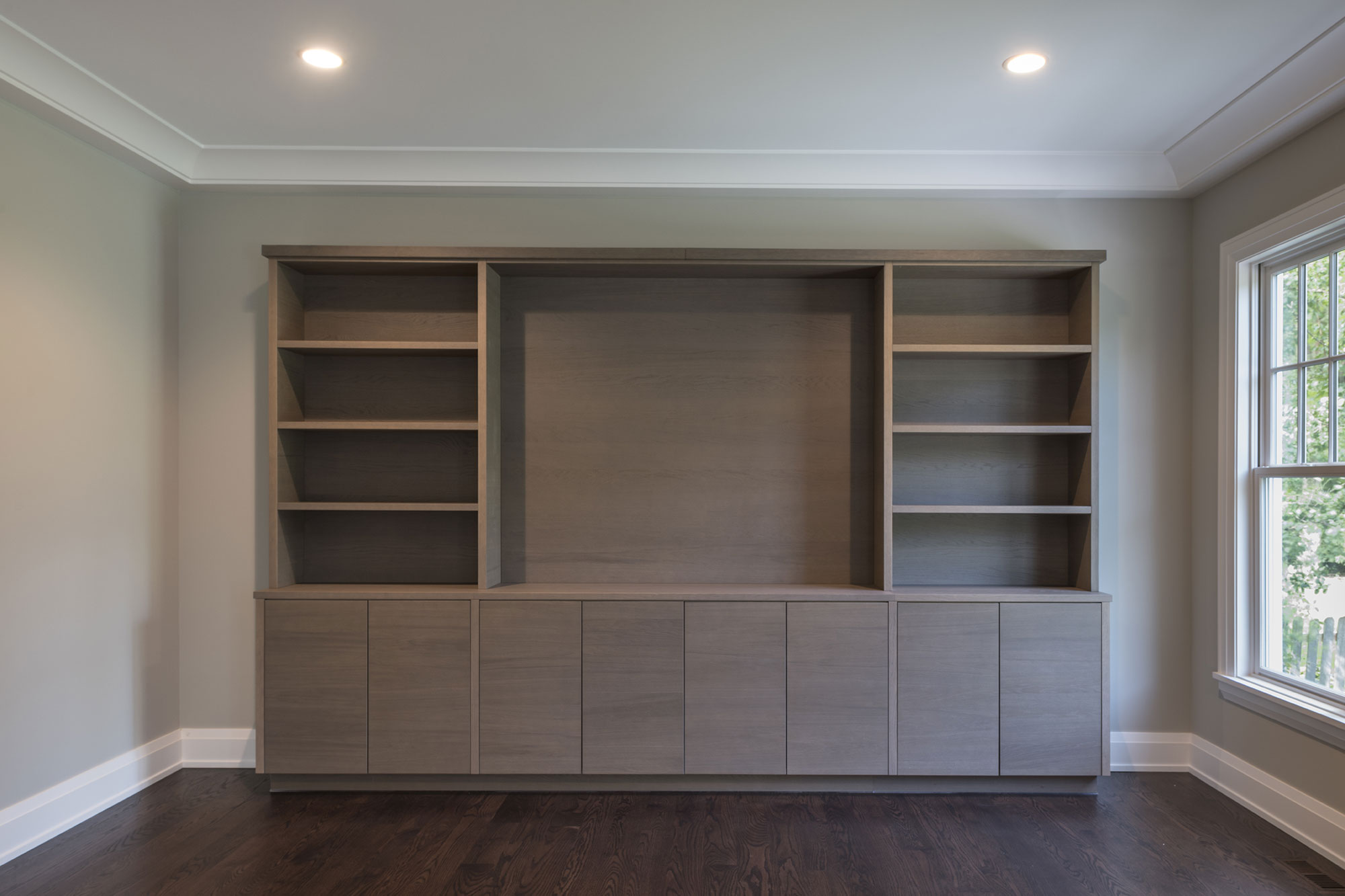 Custom Cabinets Family Room, Front View