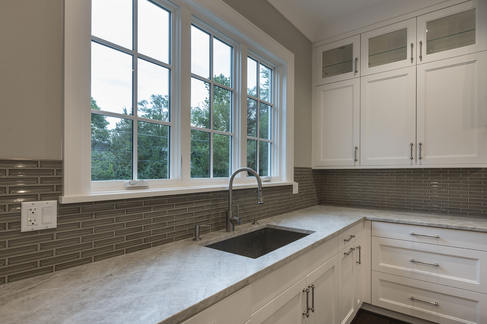 Kitchen Cabinets, Fauset, Window, Transitional Style